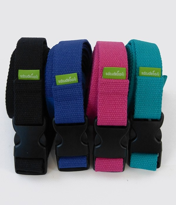 Yoga belt 32mm with release snap buckle colours