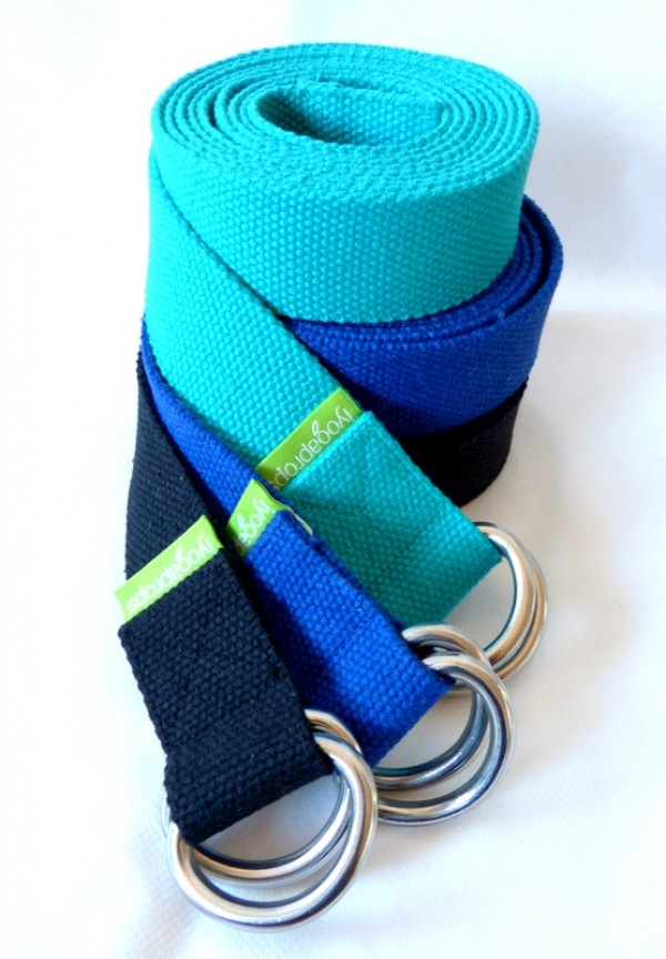 Yoga Belt - 37mm x 2.4m - D-ring