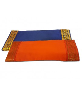 Eye Pillow with removable cover with gold trim