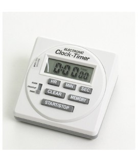 Electric timer with clock.