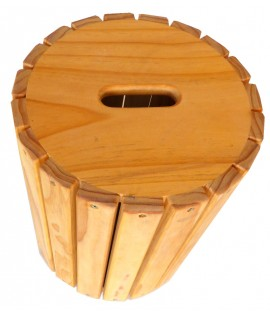 wooden barrel with model