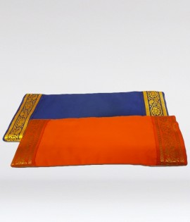 Eye Pillow - removable cover with gold trim