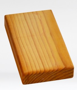 Yoga Block - Half Thickness - Wood