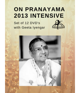 On Pranayama 2013 with Geeta Iyengar - set of 12 DVDs