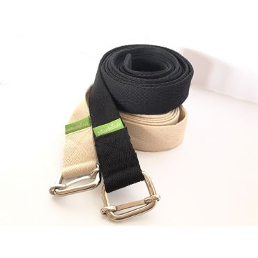 Yoga Belt 28mm - White and black