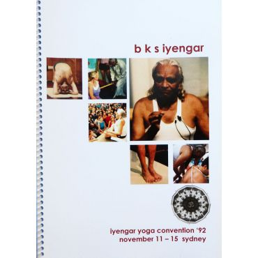 BKS Iyengar Sydney Convention 1992 Cover