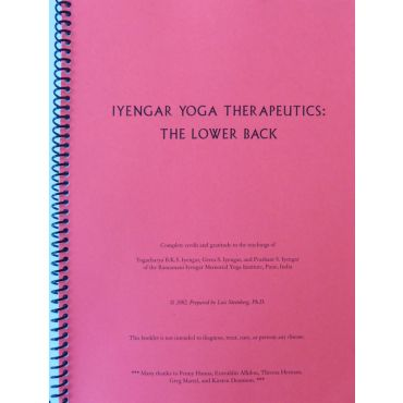 Iyengar Yoga Therapeutics: Lower Back